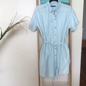 Abercrombie button down toe waist chambray dress